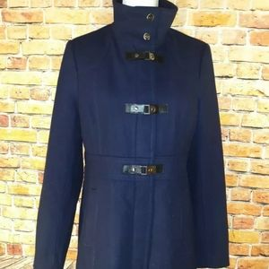 Kenneth cole wool navy peacoat